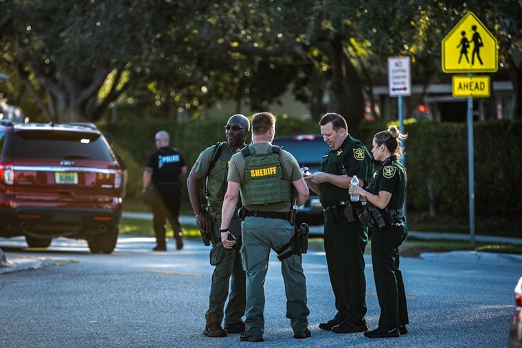 BSO deputies the day of the Parkland massacre. - PHOTO BY IAN WITLEN