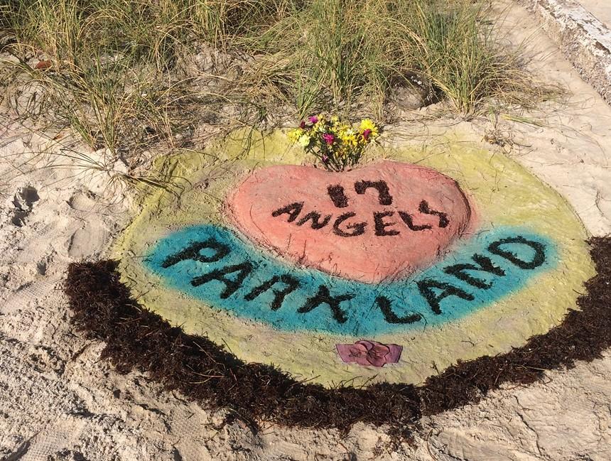 Rich Dutko's tribute to Parkland shooting victims. - PHOTO BY PATTI DUTKO