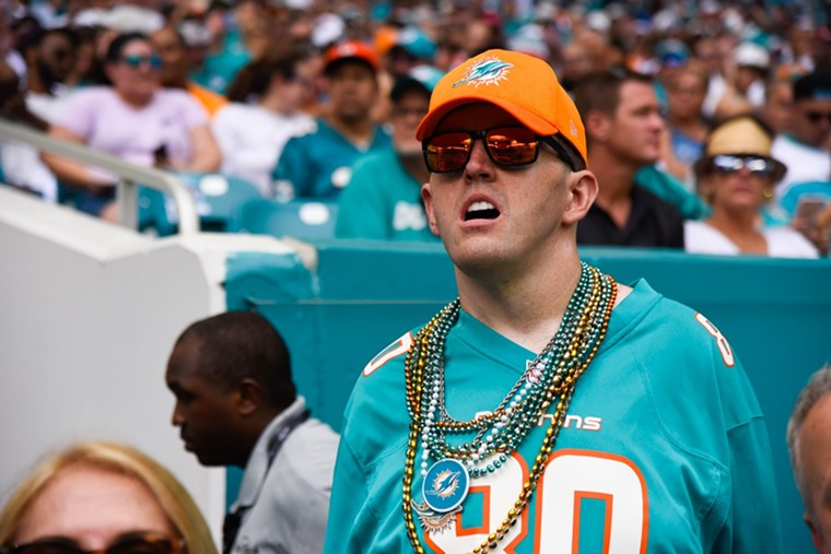 The first person to text you about how stupid the Dolphins are. - PHOTO BY MICHELE EVE SANDBERG