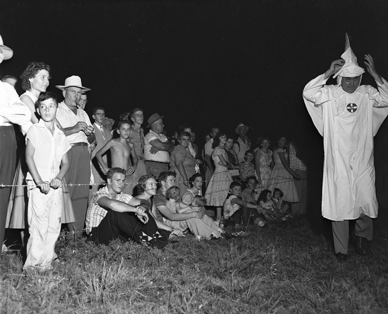 A KKK rally in Florida in 1956. See more photos of Florida's black history here. - PHOTO BY RED (BENJAMIN L.) KERCE / STATE ARCHIVES OF FLORIDA