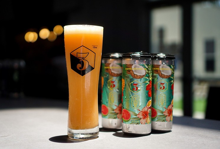 3 Sons Brewing in Dania Beach recently released its first fruit-forward hard seltzer. - PHOTO BY ALEX REYES