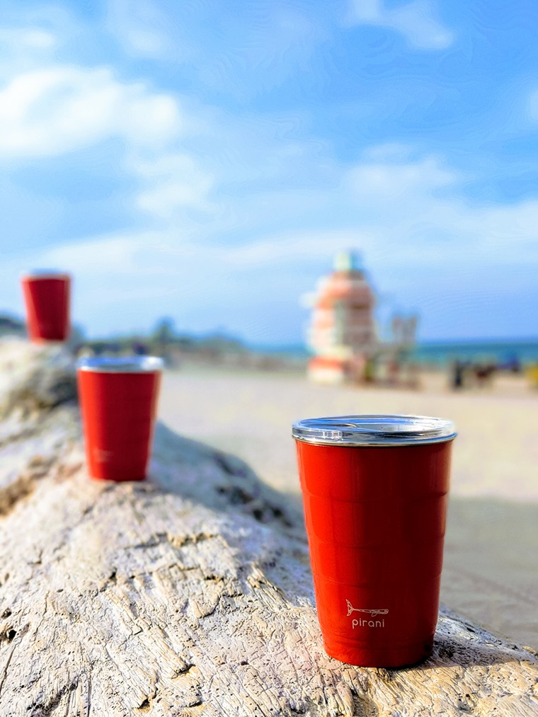 Tired of Red Solo cup debris lining your beach? Perhaps it's time for this Lauderdale-by-the-Sea bred alternative. - COURTESY